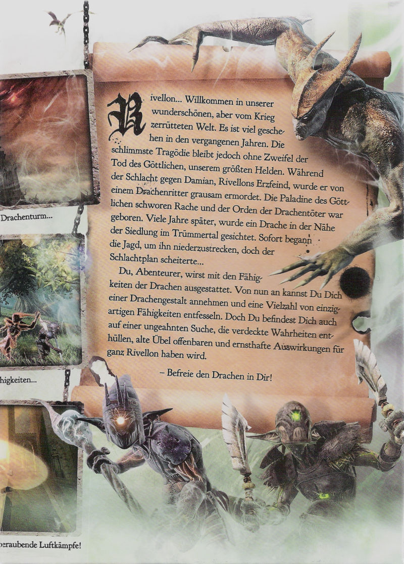Divinity II: Ego Draconis Windows Inside Cover Right Flap
