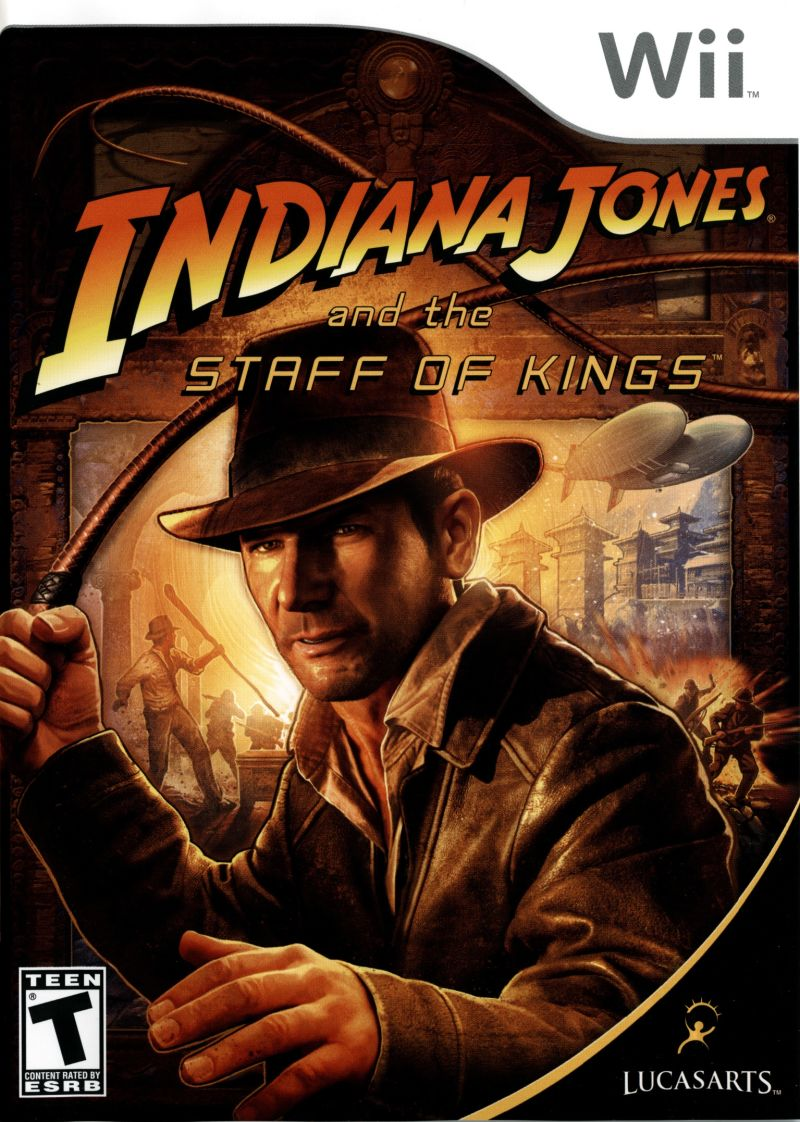 Indiana Jones and the Staff of Kings Wii Front Cover