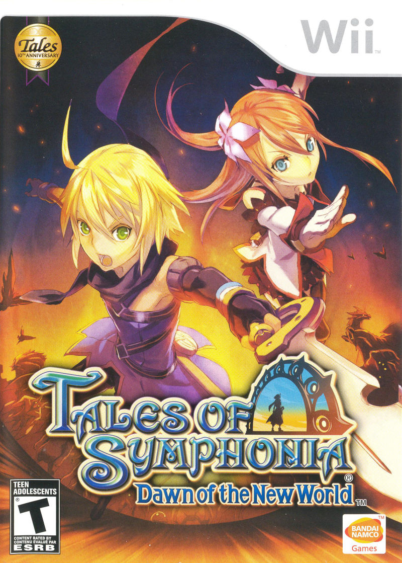 Tales of Symphonia: Dawn of the New World Wii Front Cover