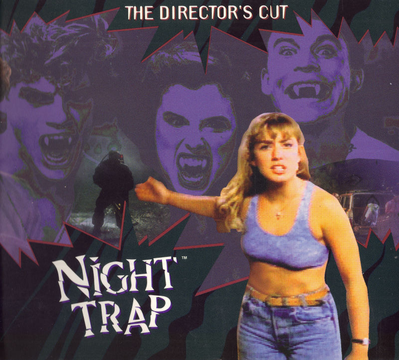 Night Trap DOS Other Cardboard Folder Front