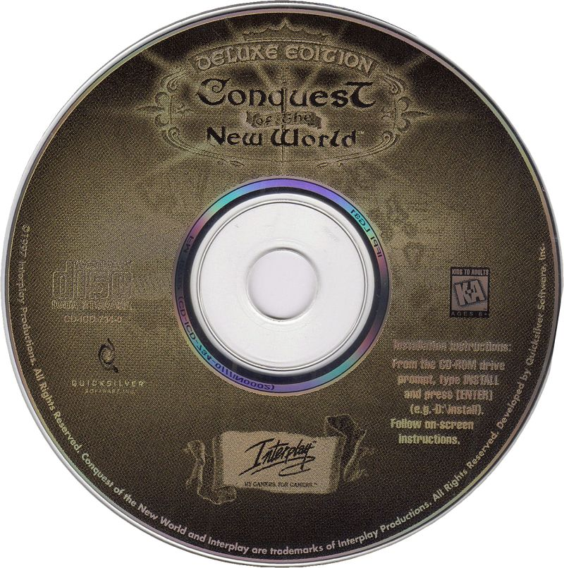 Conquest of the New World (Deluxe Edition) DOS Media