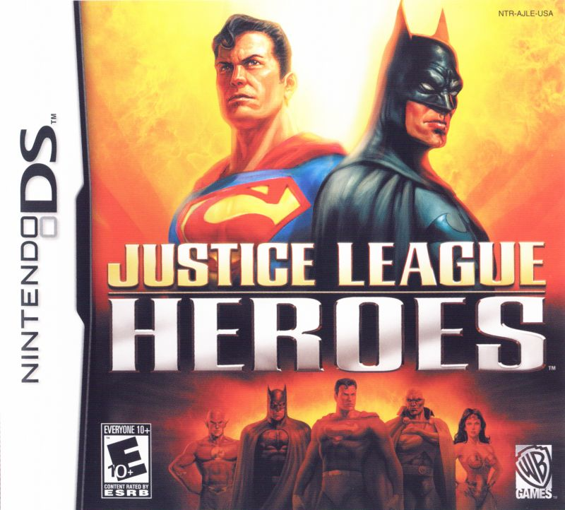 Justice League Heroes Nintendo DS Front Cover