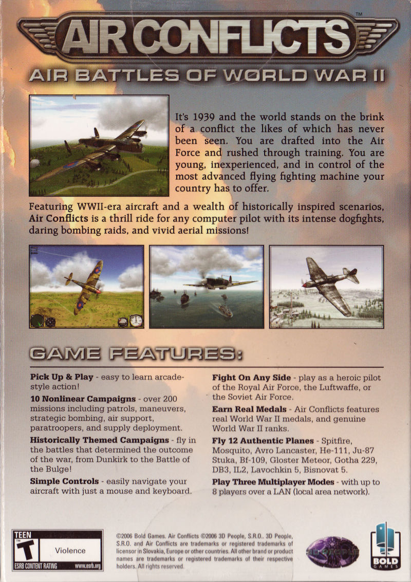 Air Conflicts: Air Battles of World War II Windows Back Cover