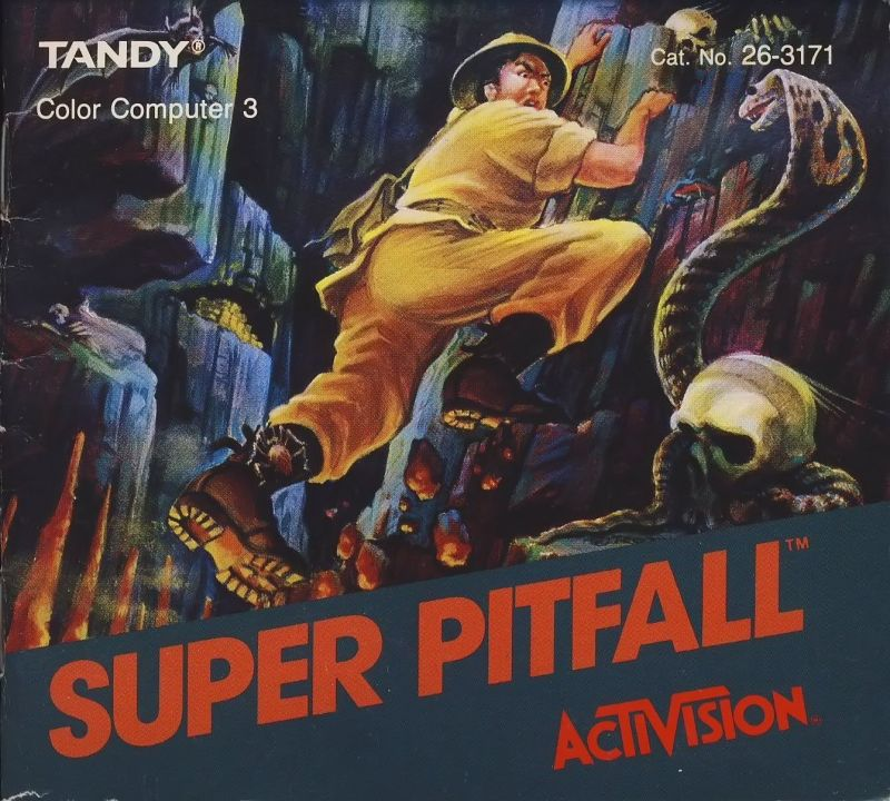 Super Pitfall TRS-80 CoCo Front Cover