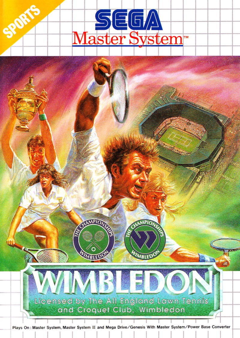 Wimbledon Championship Tennis SEGA Master System Front Cover