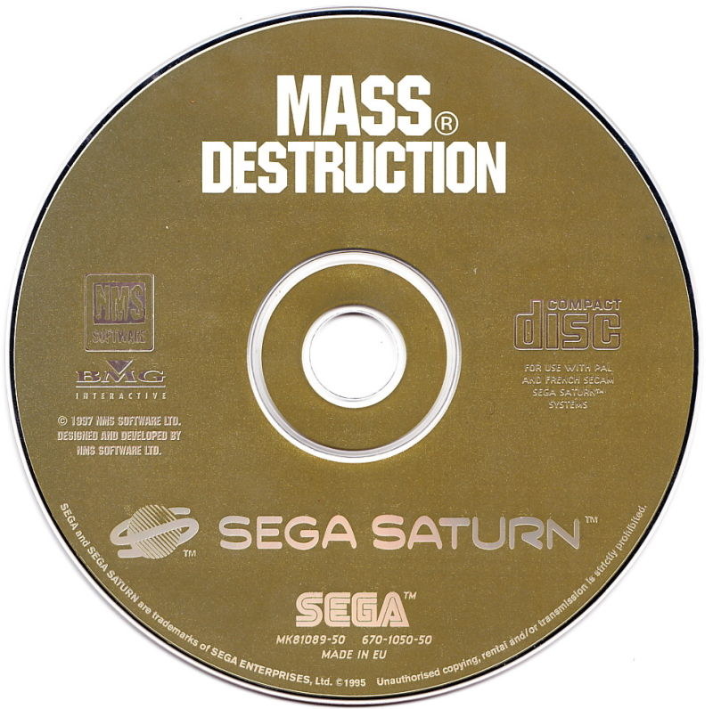 Mass Destruction SEGA Saturn Media
