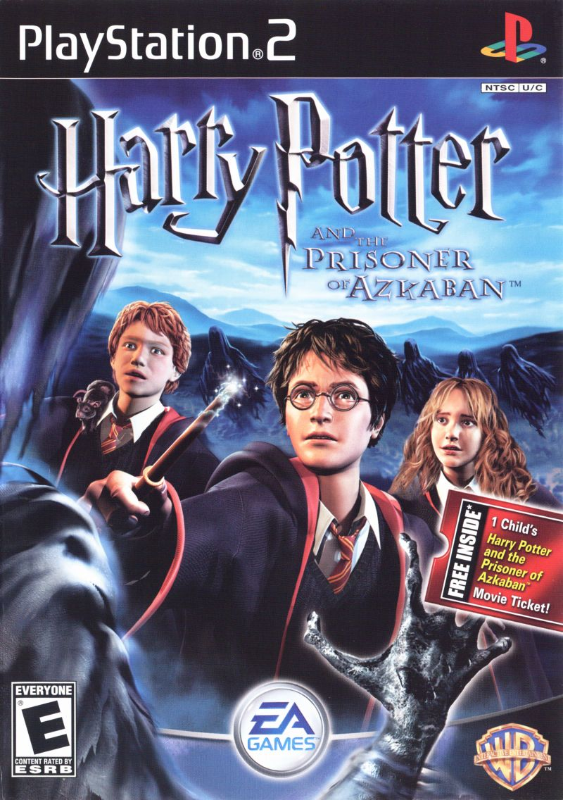 Harry Potter and the Prisoner of Azkaban PlayStation 2 Front Cover
