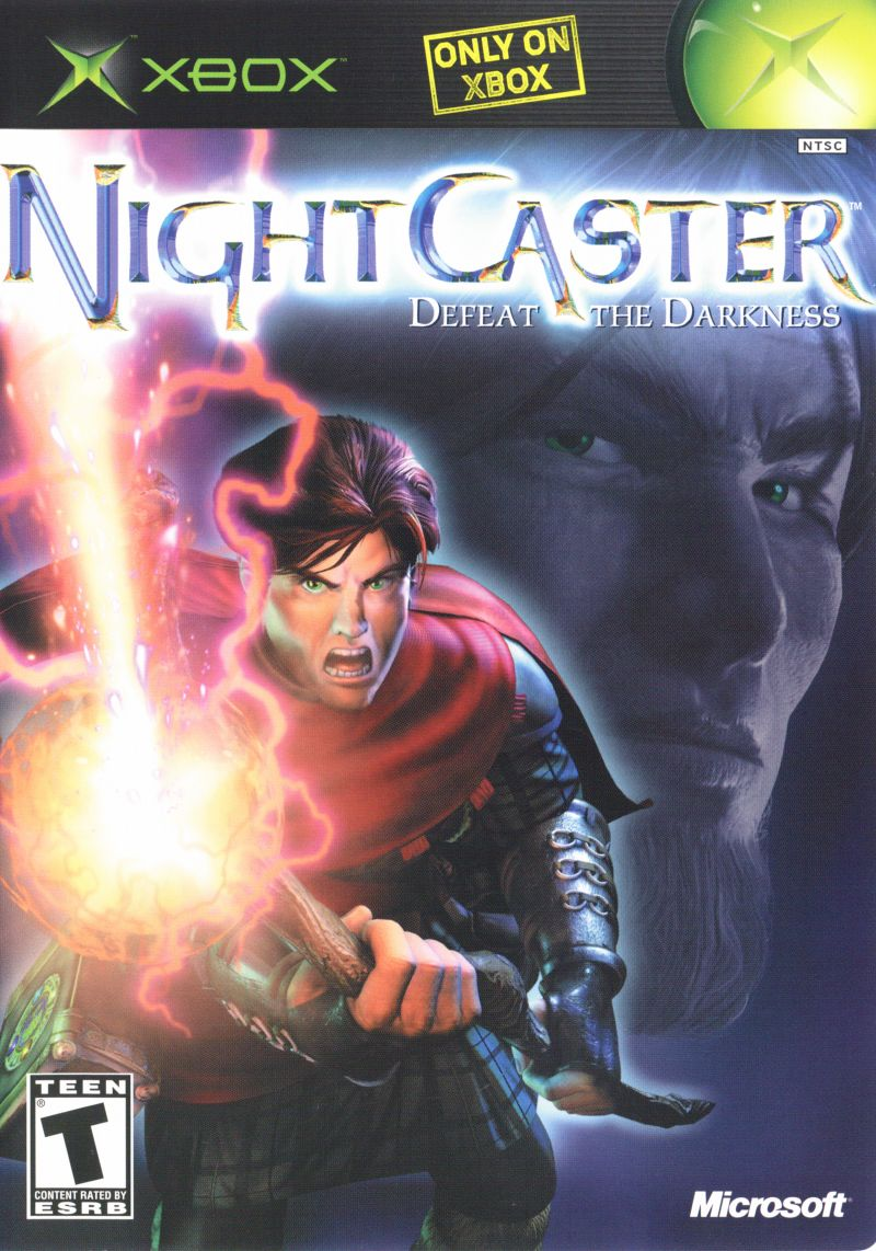 Nightcaster: Defeat the Darkness Xbox Front Cover