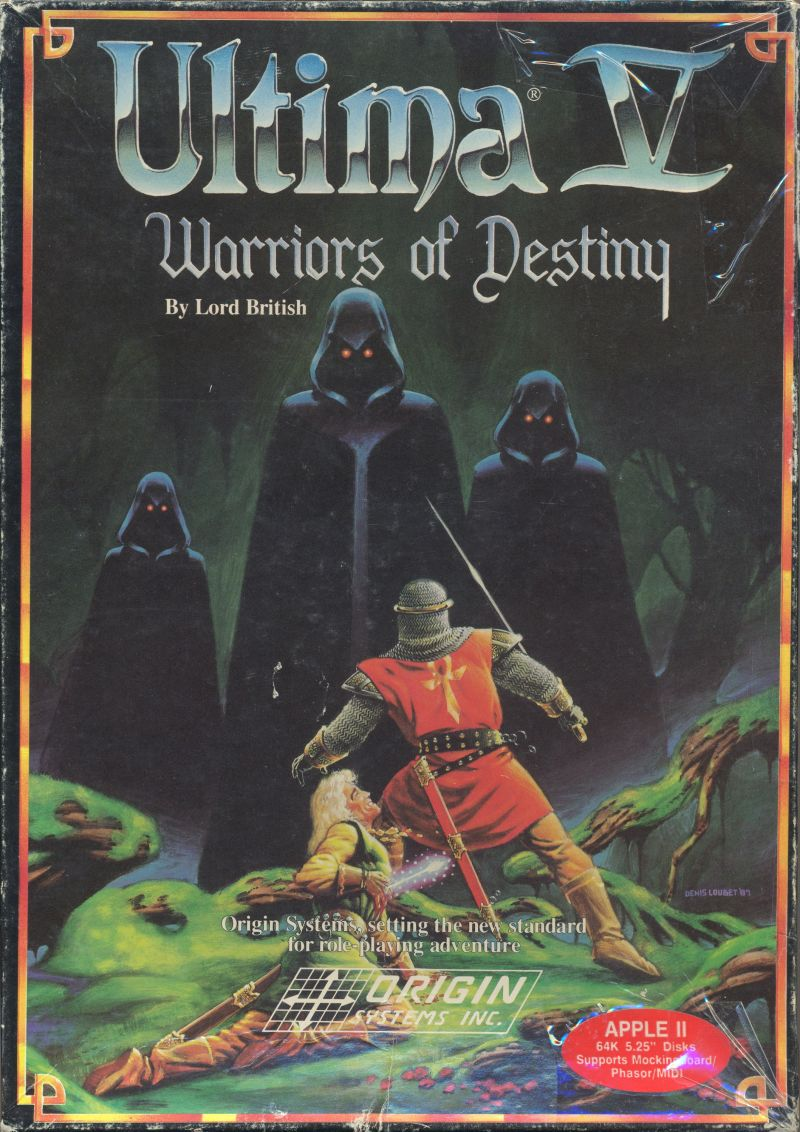 Ultima V: Warriors of Destiny Apple II Front Cover