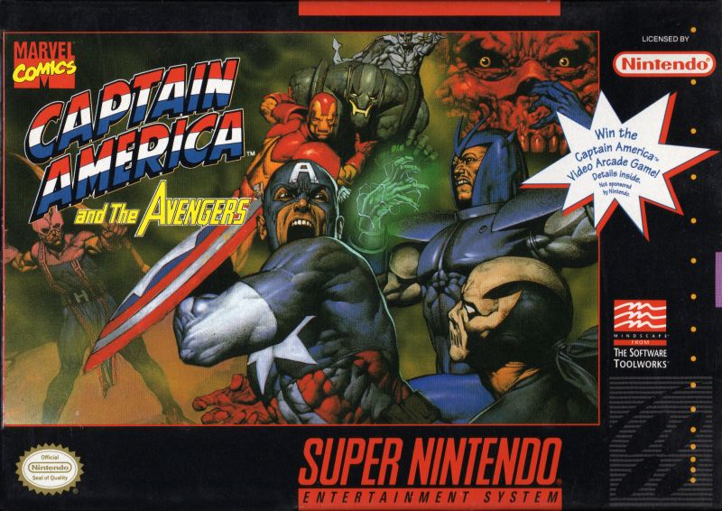 Captain America and the Avengers SNES Front Cover