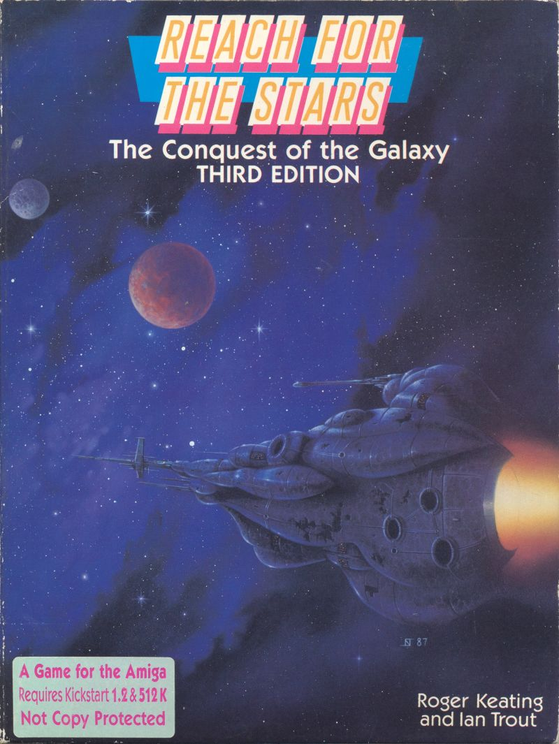 Reach for the Stars: The Conquest of the Galaxy Amiga Front Cover