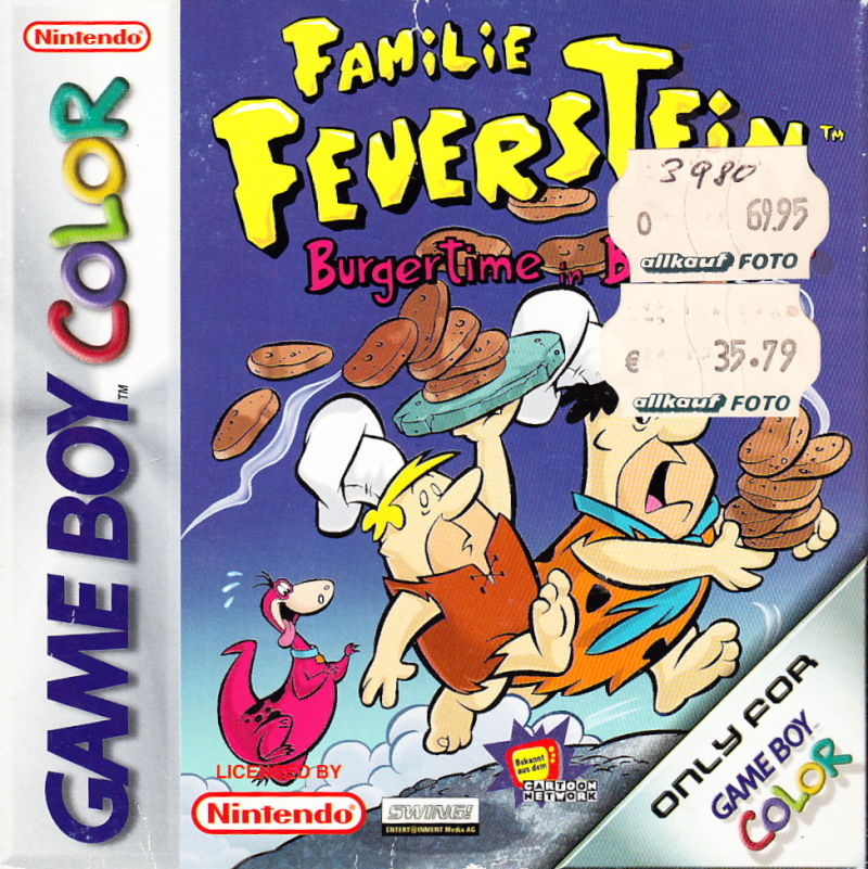 The Flintstones: Burgertime in Bedrock Game Boy Color Front Cover