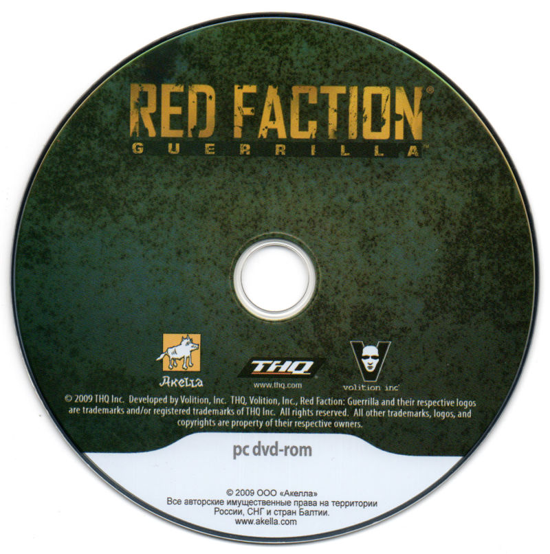Red Faction: Guerrilla Windows Media Game Disc