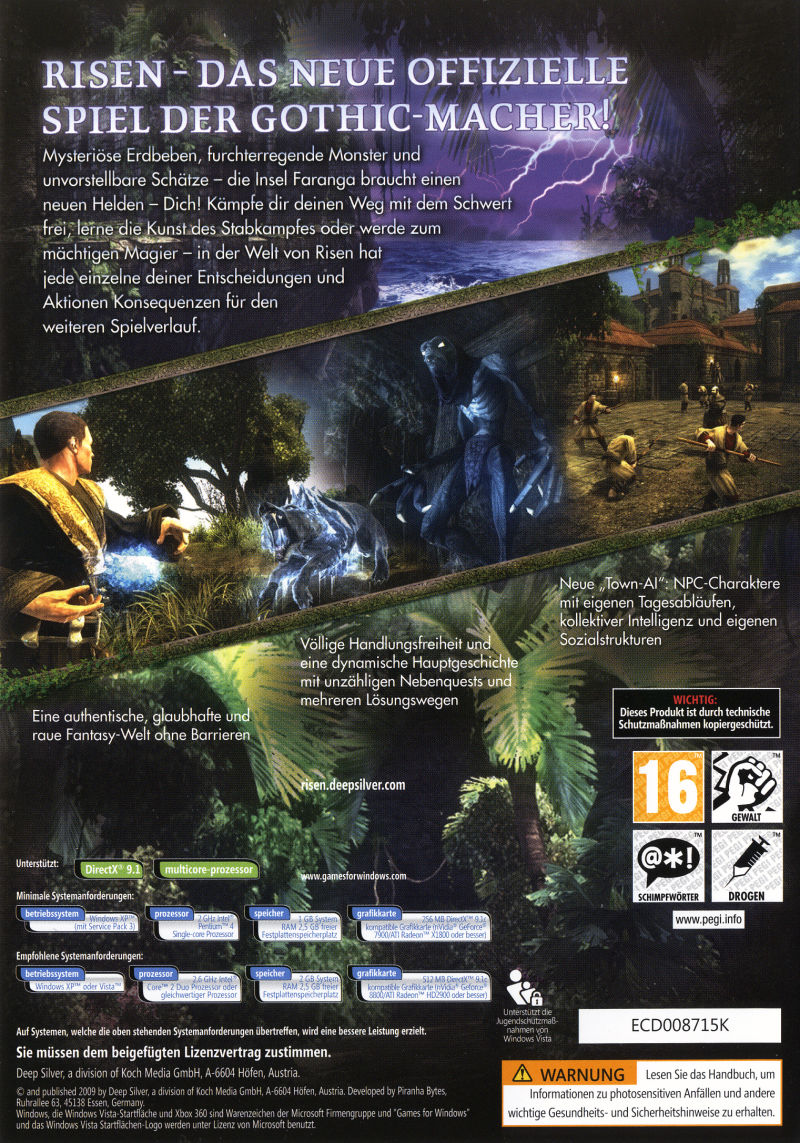 Risen (Collector's Edition) Windows Other Keep Case - Back