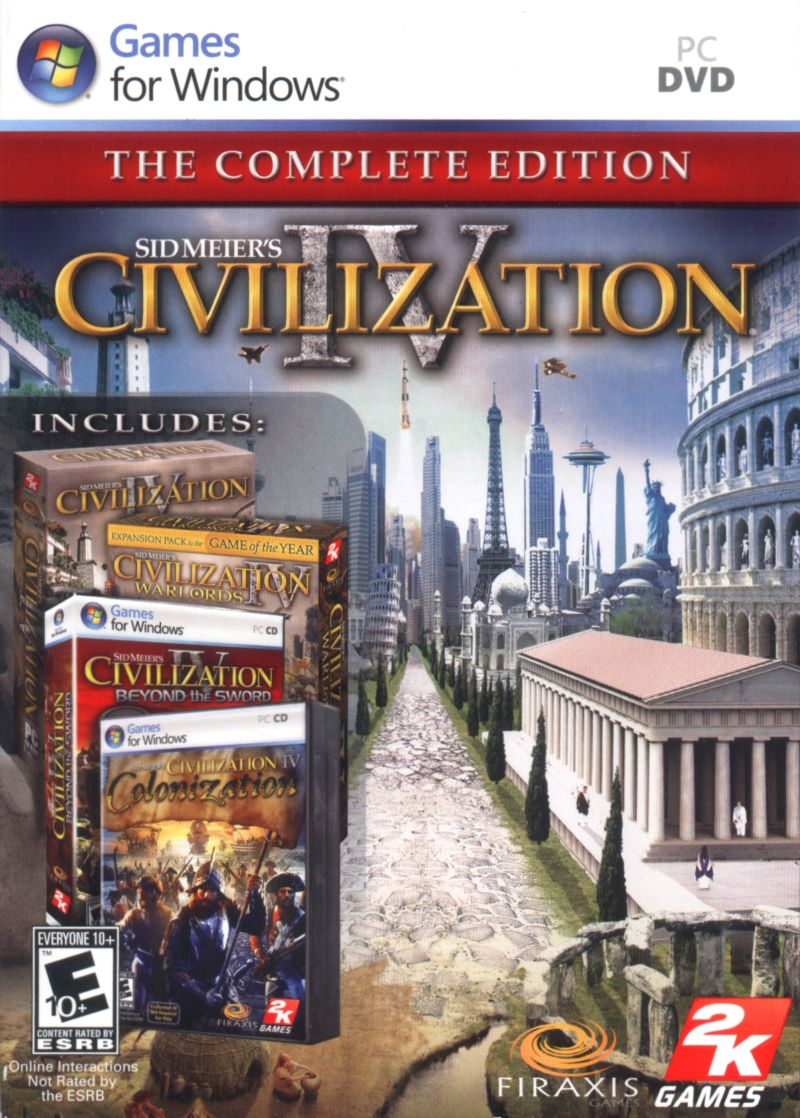 Sid Meier's Civilization IV: The Complete Edition Windows Front Cover