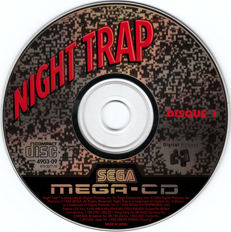 Night Trap SEGA CD Media