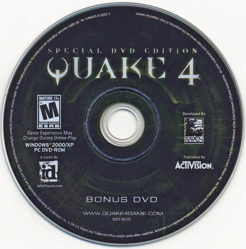 Quake 4: Special DVD Edition Windows Media Bonus DVD