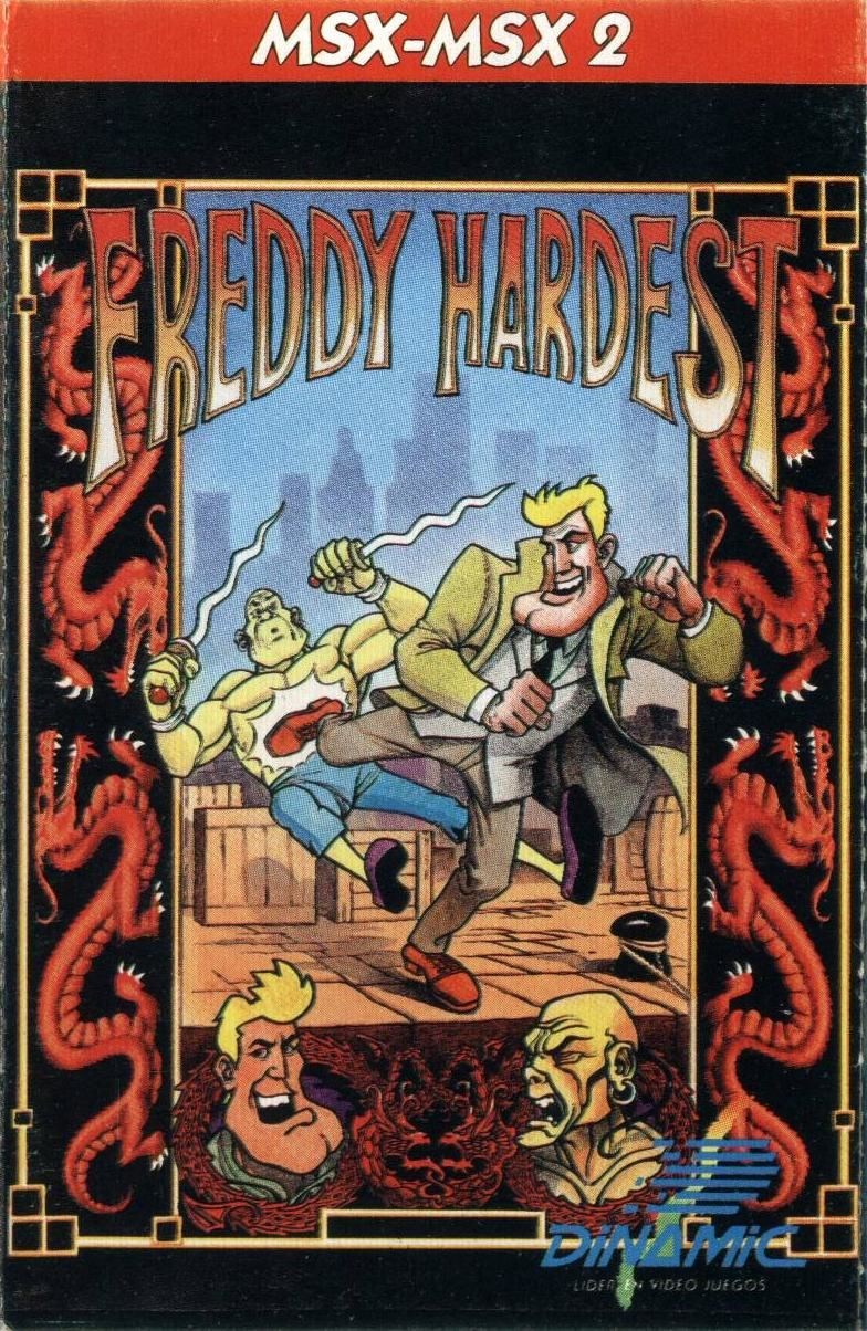 Freddy Hardest in South Manhattan MSX Front Cover