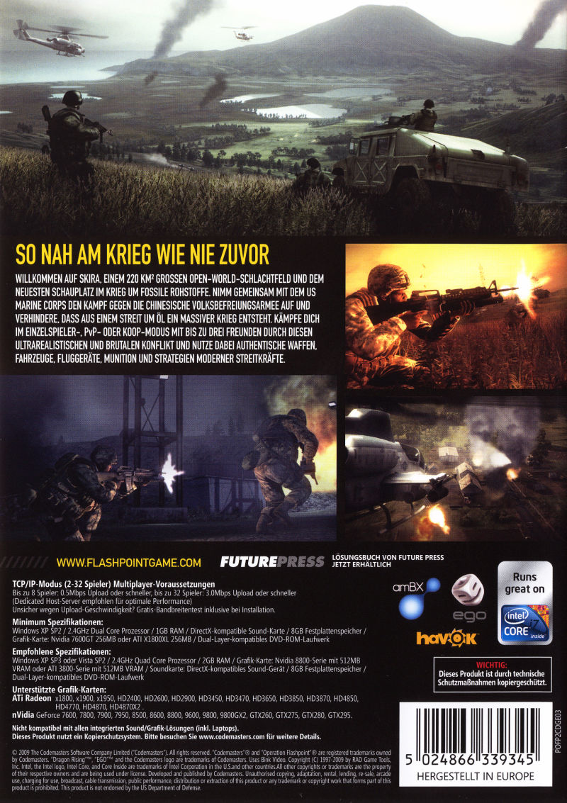 Operation Flashpoint: Dragon Rising (Special Edition) Windows Other Keep Case - Back