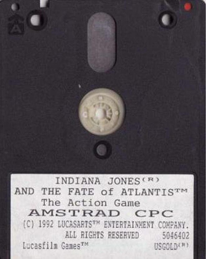 Indiana Jones and The Fate of Atlantis: The Action Game Amstrad CPC Media Side A