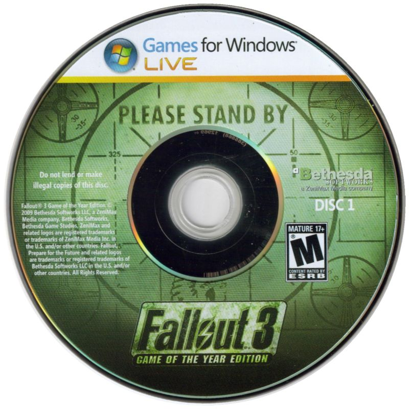 Fallout 3: Game of the Year Edition Windows Media Disc 1