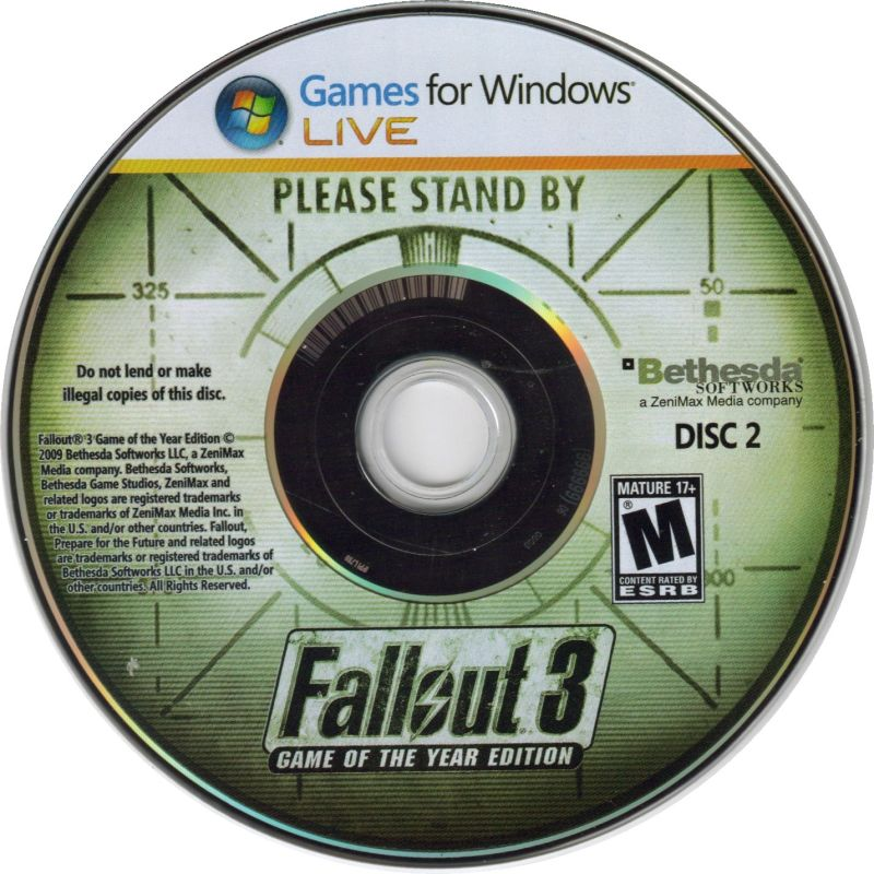 Fallout 3: Game of the Year Edition Windows Media Disc 2