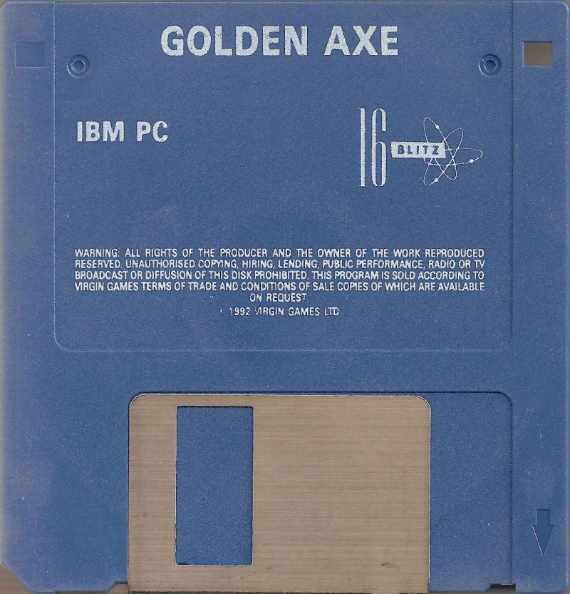 Golden Axe DOS Media