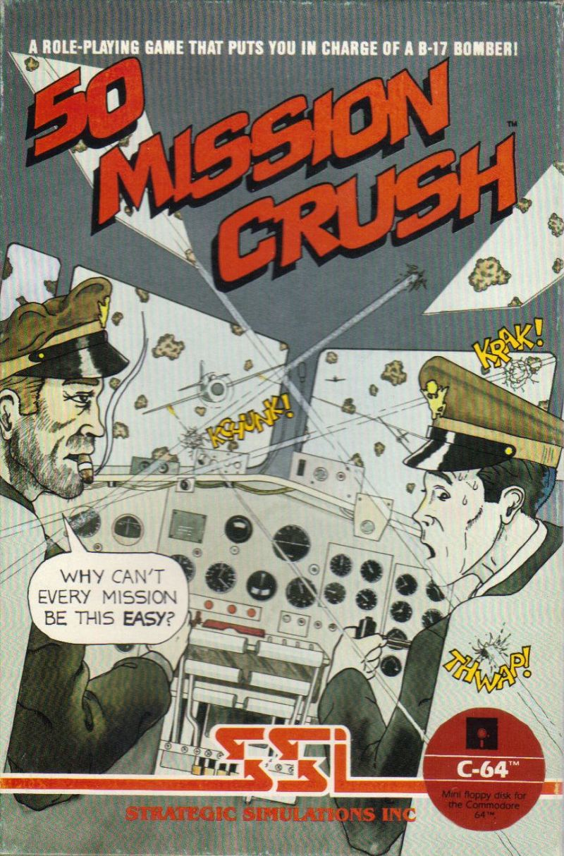 50 Mission Crush Commodore 64 Front Cover