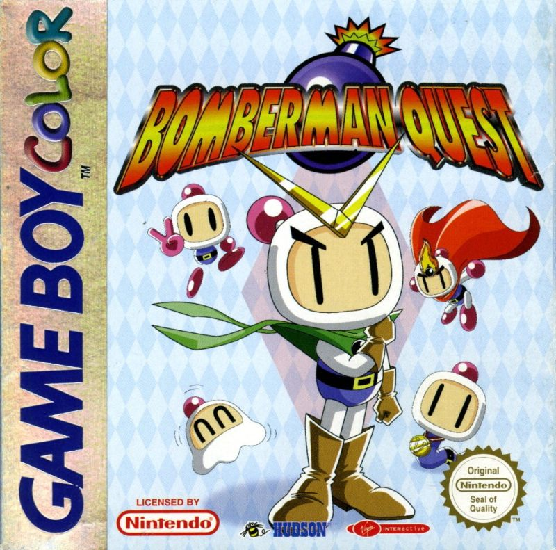 Bomberman Quest Game Boy Color Front Cover