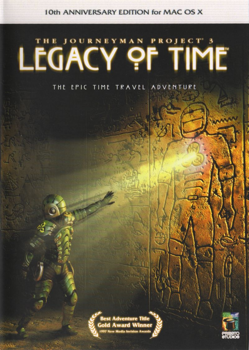 The Journeyman Project 3: Legacy of Time (10th Anniversary Edition) Macintosh Front Cover