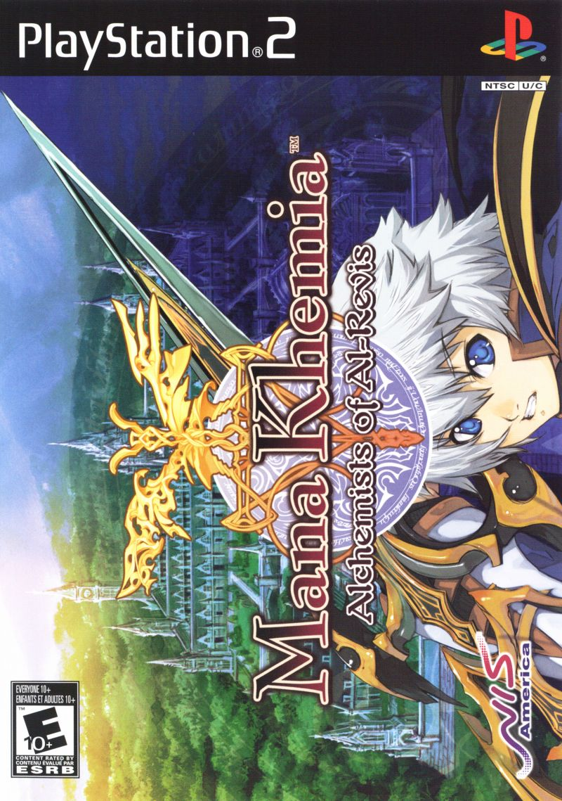 Mana Khemia: Alchemists of Al-Revis PlayStation 2 Front Cover