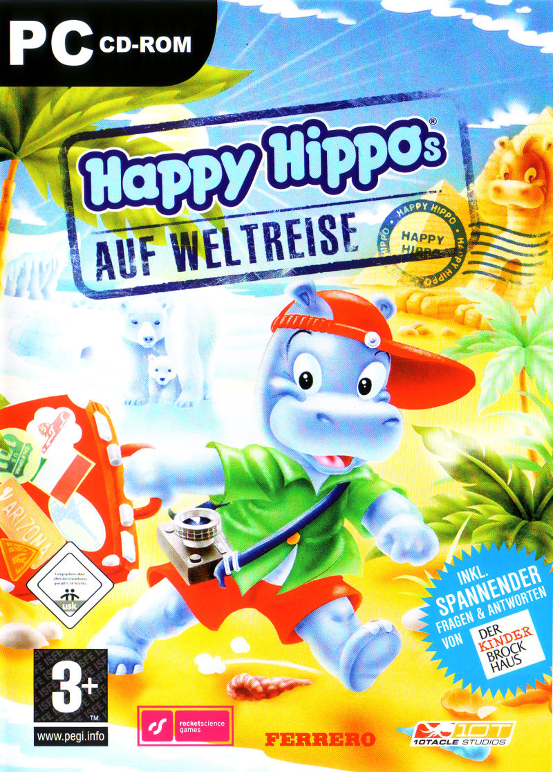 Happy Hippos: Auf Weltreise Windows Front Cover