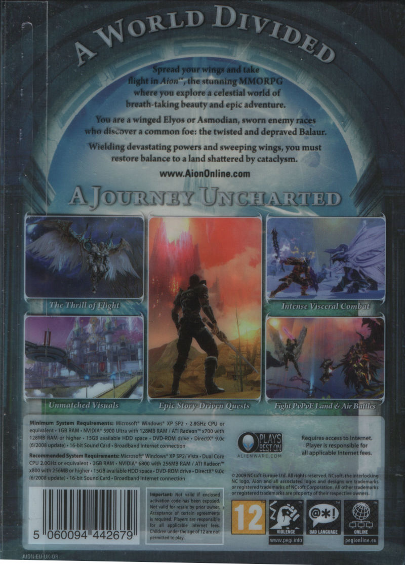 Aion Windows Back Cover