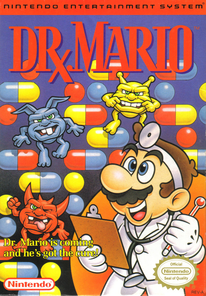 Dr. Mario NES Front Cover