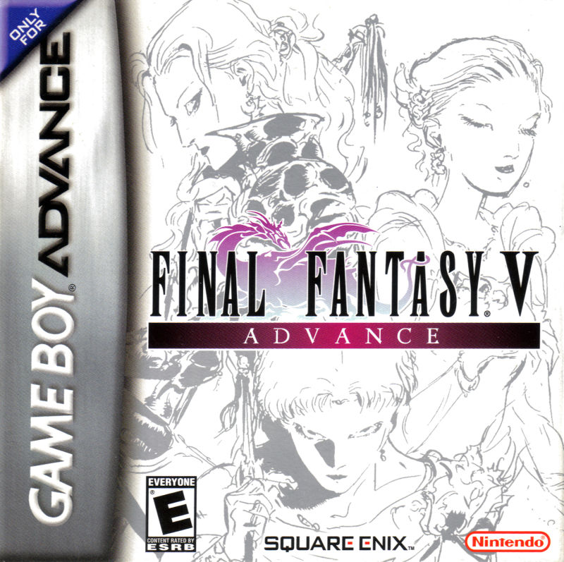Final Fantasy V Advance Game Boy Advance Front Cover