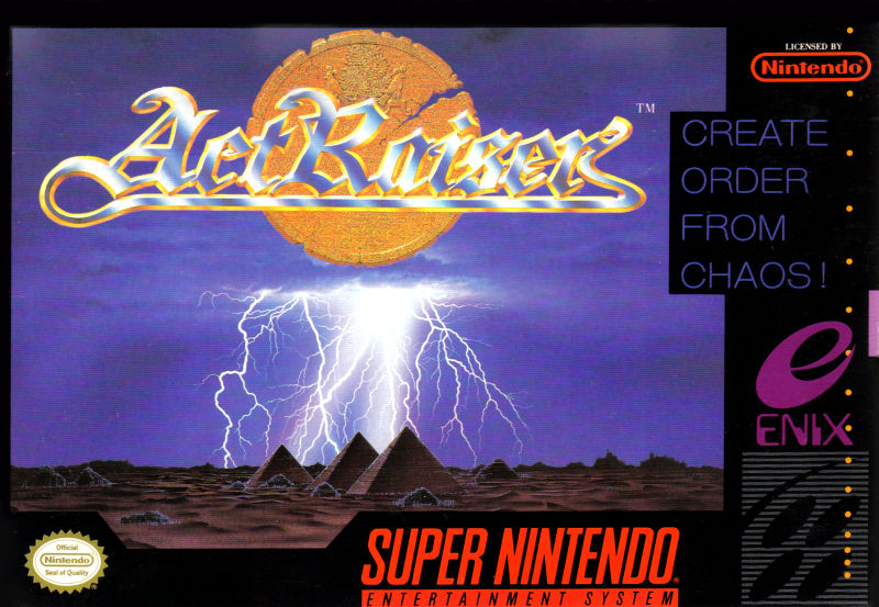 ActRaiser SNES Front Cover