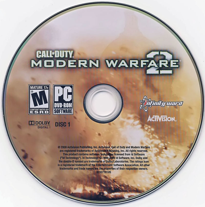 Call of Duty: Modern Warfare 2 Windows Media Disc 1/2
