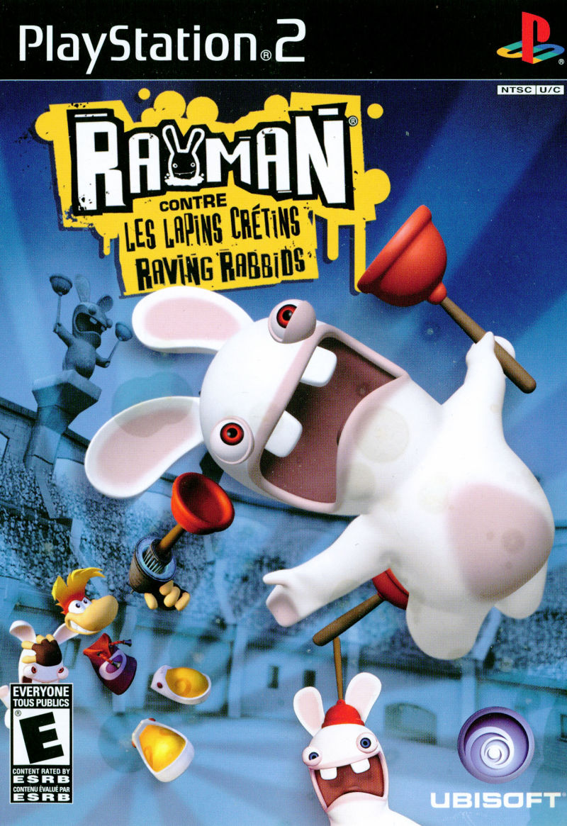 Rayman Raving Rabbids PlayStation 2 Front Cover English/French Cover