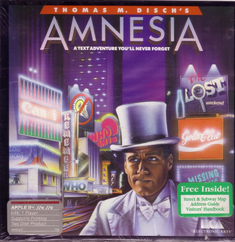 Amnesia Apple II Front Cover