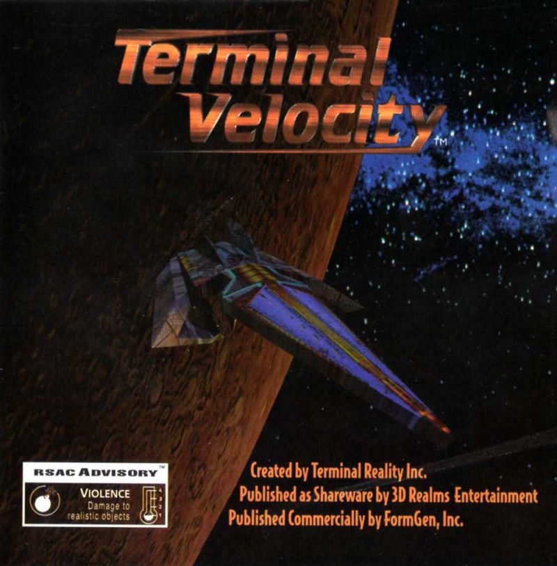 Terminal Velocity DOS Other Jewel Case - Front