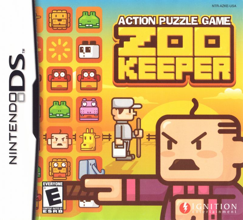 Zoo Keeper Nintendo DS Front Cover