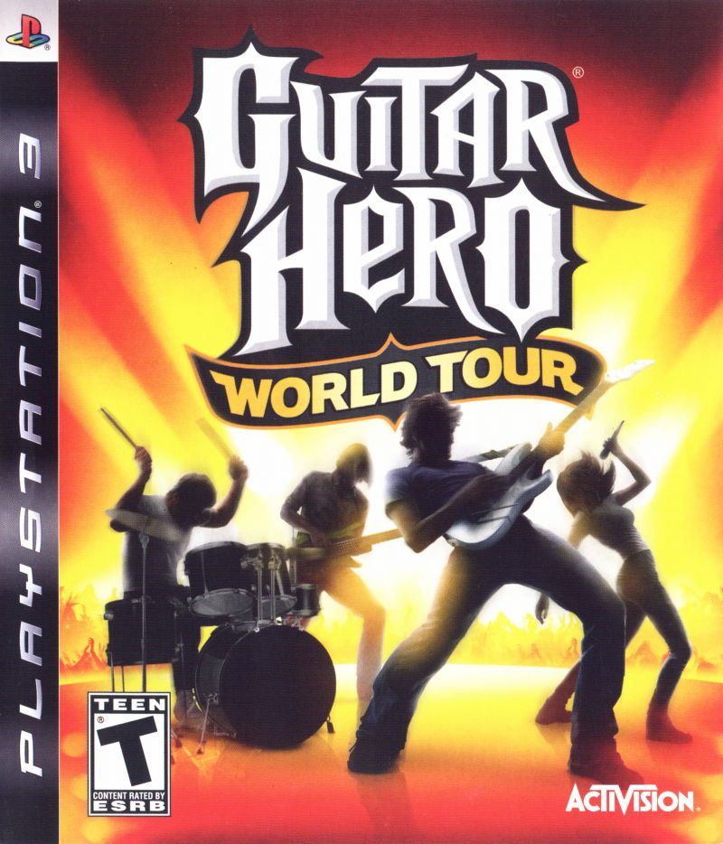 Guitar Hero: World Tour PlayStation 3 Front Cover