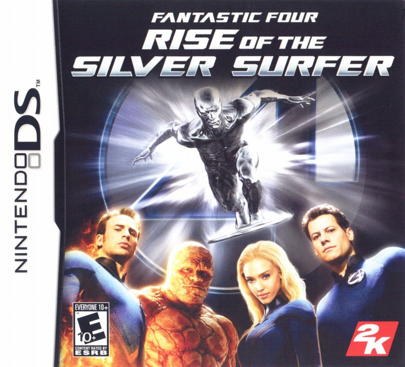 Fantastic Four: Rise of the Silver Surfer Nintendo DS Front Cover