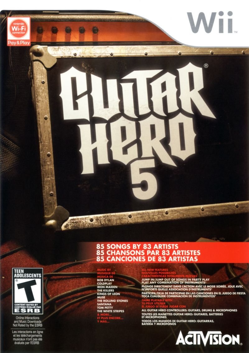 Guitar Hero 5 Wii Front Cover
