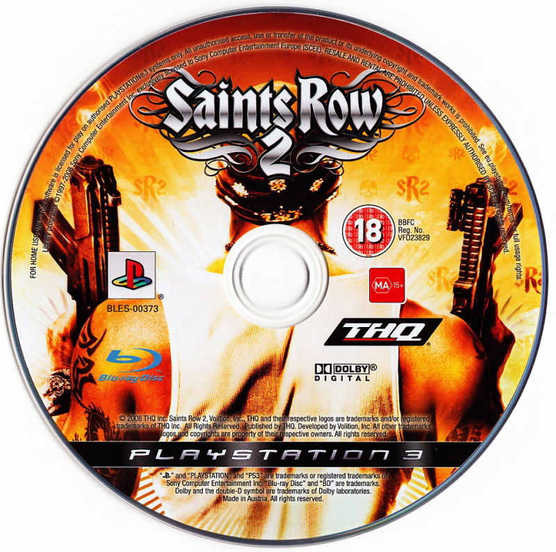 Saints Row 2 PlayStation 3 Media