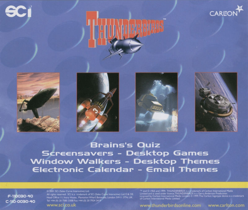 Thunderbirds: F.A.B. Action Pack Windows Other Jewel Case - Back