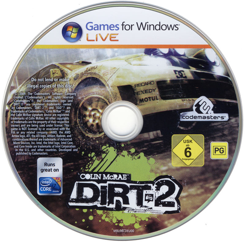Colin McRae: DiRT 2 (Special Edition) Windows Media Game Disc