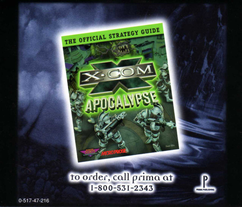 X-COM: Apocalypse DOS Other Jewel Case - Back