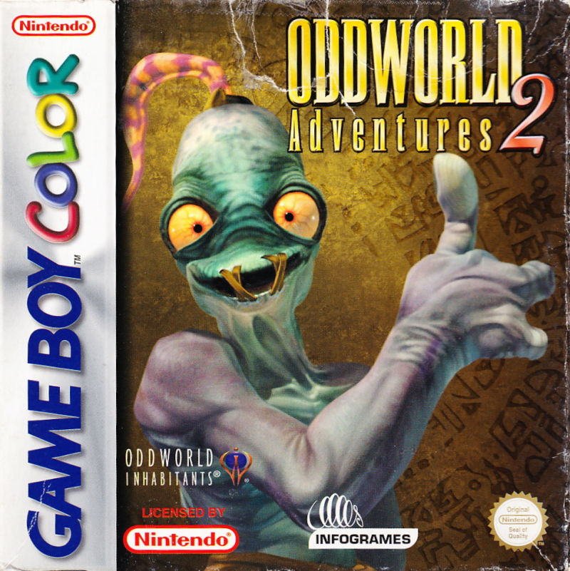 Oddworld: Adventures 2 Game Boy Color Front Cover