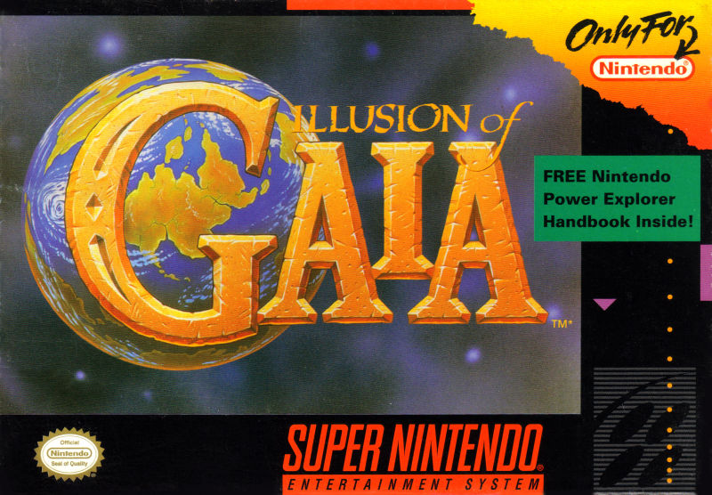 Illusion of Gaia SNES Front Cover